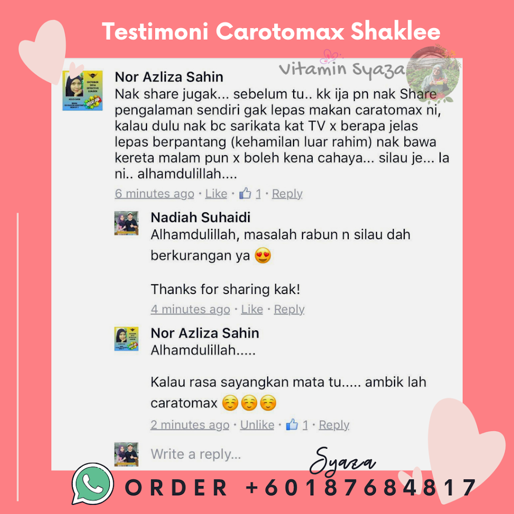 Testimoni CarotoMax® Shaklee